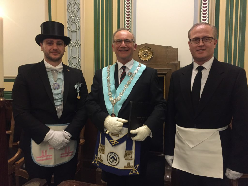 The WM with the new Member and a German visitor.